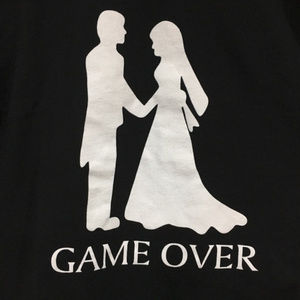 """Other - Lot of 2 """"GAME OVER"""" Bacheolor Tee size large NEW"""